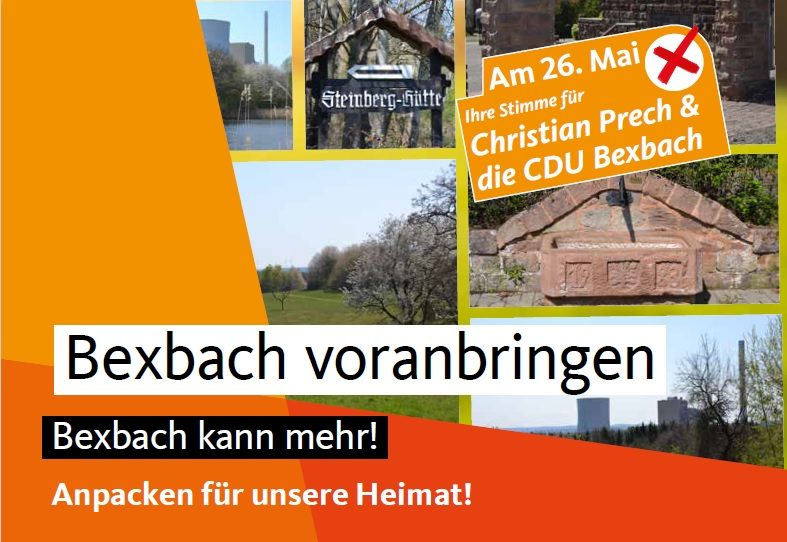 Broschüre der CDU zur Bürgermeister- und Kommunalwahl 2019